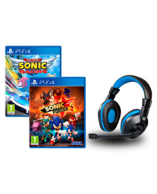 SONIC FORCES + TEAM SONIC RACING + AUSCULTADORES – PS4