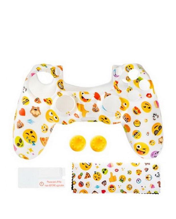 KIT PROTECAO COMANDO PS4 SILICONE JOYPIXELS Playstation 4 8436570981968 2