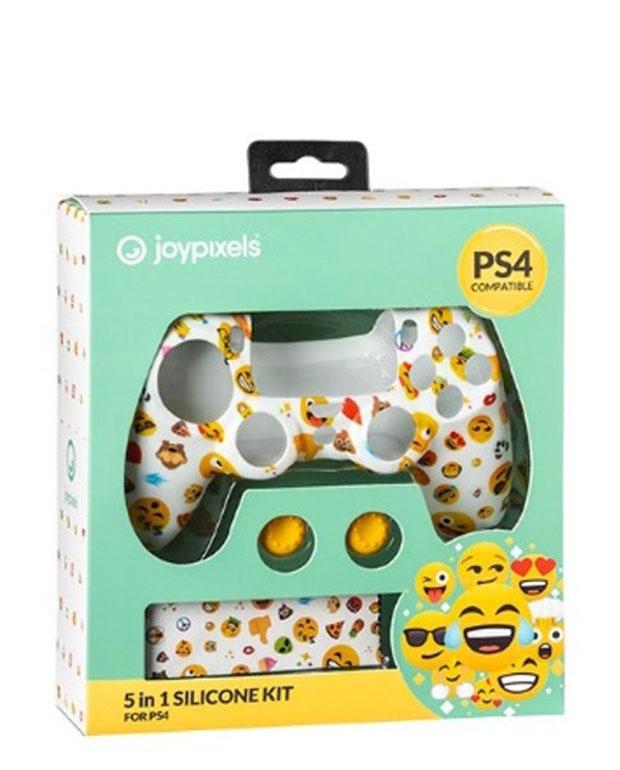 KIT PROTECAO COMANDO PS4 SILICONE JOYPIXELS Playstation 4