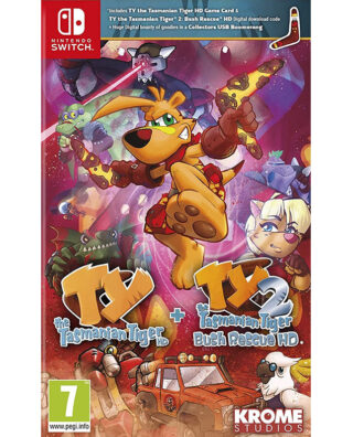 TY TASMANIAN TIGER HD + TY TIGER 2 BUSH RESCUE – Nintendo Switch